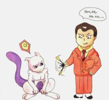 Gio bugging Mewtwo by PsyLady