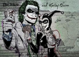 joker and harley wall art by jokercrazy