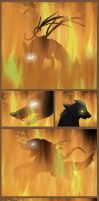 And So the Forest Burned - 4 by PlainYellowFox
