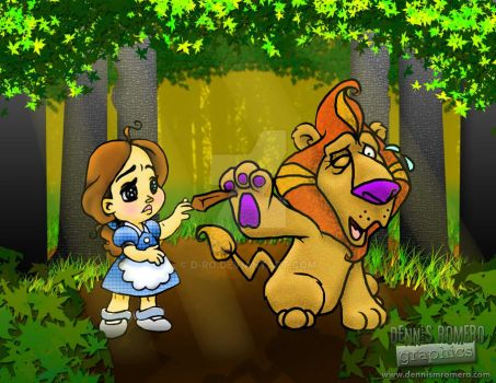 Dorothy Helps the Lion by D-Ro