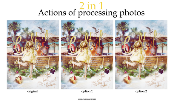 Actions of processing photos by germanotgaga