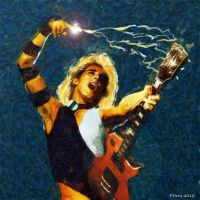 Mick Ronson - Digital Painting by paulnery