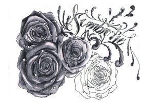 Unfinished roses by Dyslexia6