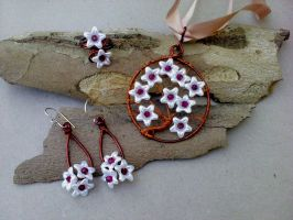 Flowers set wire wrap by Mirtus63