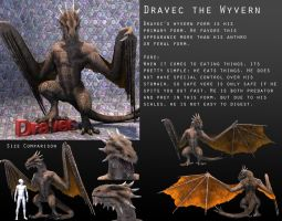 Dravec the Wyvern Reference Sheet by PWRof3D