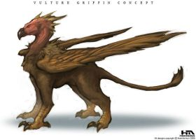 Vulture Griffin by NuMioH
