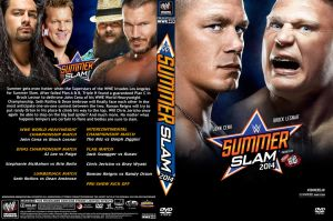 WWE SummerSlam 2014 DVD Cover V1 by Chirantha
