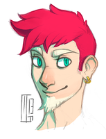 Humanized Rainbow Llama Dragon by Ferwildir