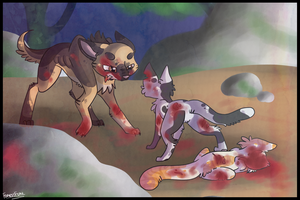 Swiftpaw's Last Stand by candysprites