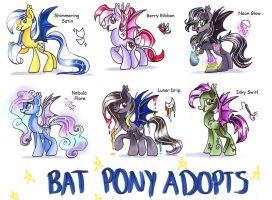 Bat Pony Adopts Auction set 6 (CLOSED) by frostykat13