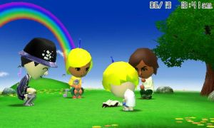 Four Miis and a cat by GWizard777