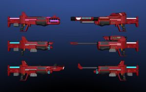 X500 Energy weapon series by Warkom