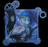 +The Cooing Orb Owl+ by ShePaintsWithBlood