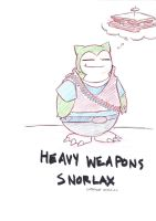Heavy Weapons Snorlax by The-Letter-W