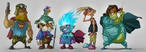 Characters by lordeeas