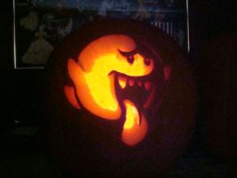 Ghost Pumpkin Carving by Slayersrx7