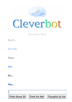 arguing wth cleverbot by mewnekochibi