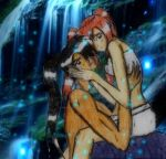 Waterfall by night with you by Ayame-Oerba-Dia
