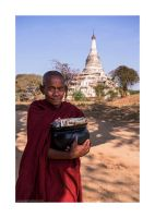 monk at Old Bagan by lightdrafter