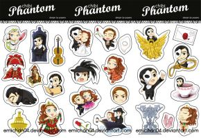 chibi phantom sticker by poperart