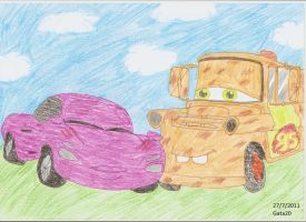 Cars 2- Holley and Mater by gata20