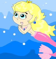 Peach Mermaid 2 by princesspeach08