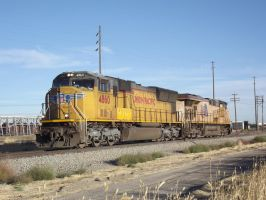 UP 4860 And 5342 In Pocatello by Mellette