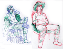 Life Drawing - 11th March 2013 by TheElvishDevil
