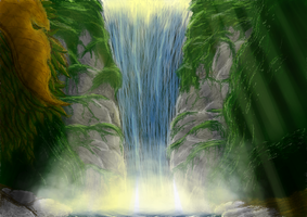Waterfall by Artist-Moo