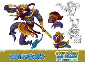 Sun-Wukong, the monkey king by Onikaizer