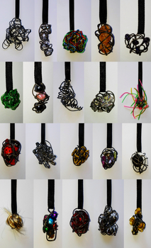 wire pendants 2 by queenofexecutions
