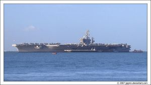 USS Eisenhower in Lisbon by jpgmn