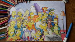 The Simpsons (finished) by Dimondrawing