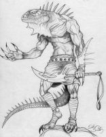 Lizardman warrior by DelQc