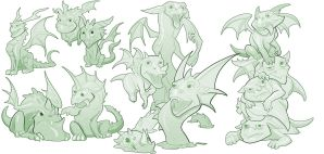 Dragons... by Rayph