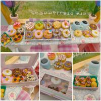 Donuts bar 6th scale by LittlestSweetShop