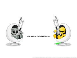Deviants In Black: Wallpaper by jellybeansoup