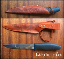 scabbards for knife with viking ornament by TonyCrafter