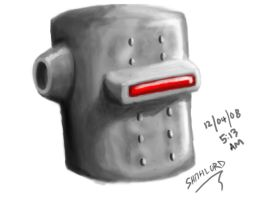NOSTALGIC ROBOT HEAD by shithlord
