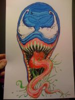 Venom WATER COLOR by inkone37