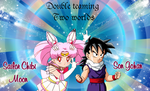 REQUEST: Gohan and Sailor Chibi Moon by Lady1Venus
