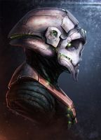 sci-fi bust by NewmanD