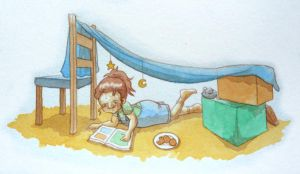 Blanket Fort by Hanni-Elfe