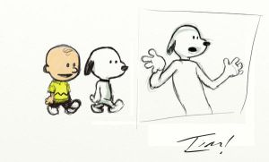 Watterson and Peanuts by ninjaink