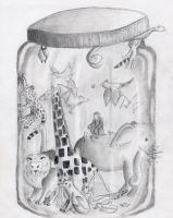 Animals in a Jar by icantthinkofaname-09