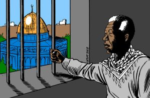 Mandela on Israeli apartheid by Latuff2