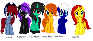 MLP: My Mane Six by NightlyEcliipse