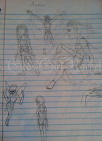 RotG OC: Imagination: Aisalinn sketches by GodsGirlRachel