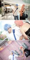 Kuroko and Momoi date by vicissiJuice