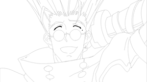 Vash the Stampede Line Art by MiniMinccino